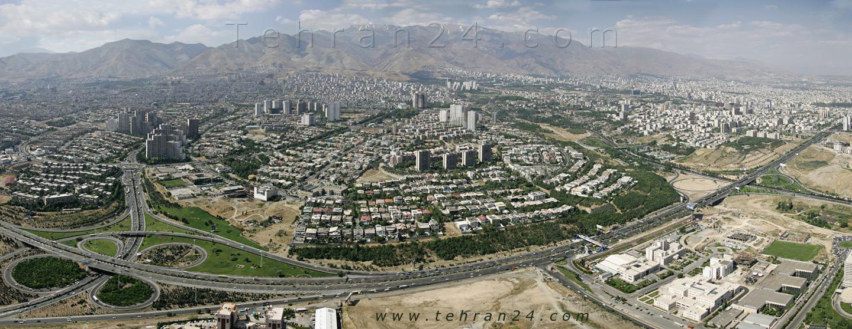 پانوراما از تهران بزرگ --- پانوراما - از کنار هم چیدن تصاویر بدست می آید و در اینجا عکس های ترکیب شده تهران بزرگ و شلوغ را برای ما به نمایش می گذارند - کاری از سایت تهران 24