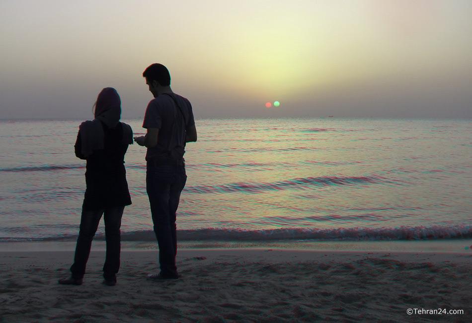 Kish island in the Persian Gulf.